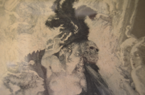 Norman Lindsay Original Etching - Deaths Mask